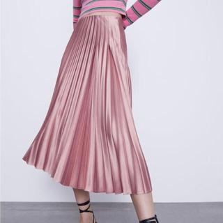 ZARA - zara ♡ プリーツスカート pink