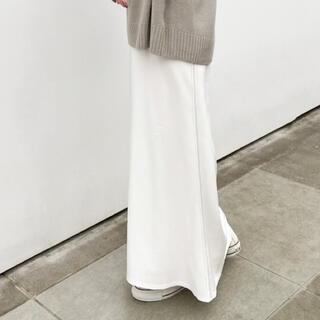 Plage - プラージュplage  バックサテンスカート 白38
