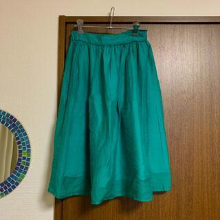 ガリャルダガランテ(GALLARDA GALANTE)のグリーン フレアスカート(ひざ丈スカート)