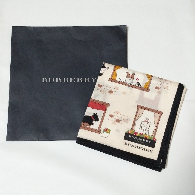 BURBERRY(バーバリー)のバーバリー ハンカチ 犬 レディースのファッション小物(ハンカチ)の商品写真
