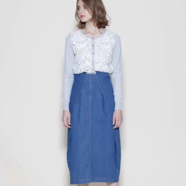 GRACE CONTINENTAL(グレースコンチネンタル)のグレースコンチネンタル デニムスカート 新品 レディースのスカート(ロングスカート)の商品写真