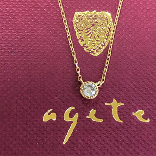 アガット(agete)のアガット k18YG ダイヤモンド ネックレス(ネックレス)
