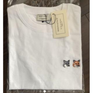メゾンキツネ(MAISON KITSUNE')のMAISON KITSUNEメゾン キツネ ダブルフォックスヘッド Tシャツ(Tシャツ(半袖/袖なし))