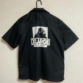 XLARGE - XLARGE OGロゴ ワークシャツ 黒