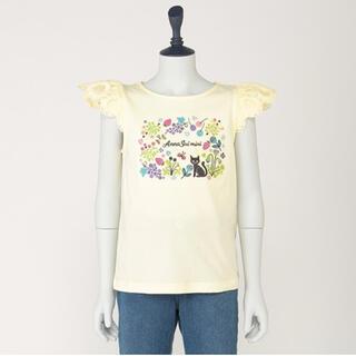 ANNA SUI mini - アナスイミニ ネコ&フルーツ刺しゅう肩レースTシャツ