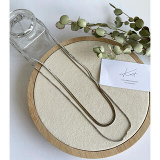 SENSE OF PLACE by URBAN RESEARCH - bipartite snake necklace-silver-