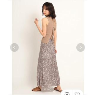 FRAY I.D - フラワープリントナロースカート