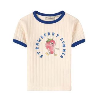 こども ビームス - the  campamento Strawberry リブ Tシャツ 2y