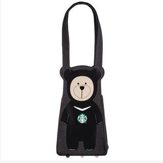 スターバックスコーヒー(Starbucks Coffee)の台湾限定 ベアリスタ 熊 ブラック ドリンクホルダー(トートバッグ)