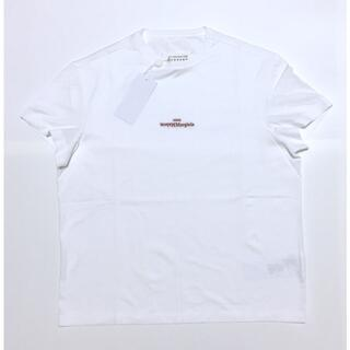 マルタンマルジェラ(Maison Martin Margiela)の新品 メゾン マルジェラ 反転 ロゴ Tシャツ ホワイト 48 刺繍ロゴ Mai(Tシャツ/カットソー(半袖/袖なし))