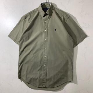 ラルフローレン BDシャツ 半袖 カーキ色 ゆるコーデ 美品 メンズ
