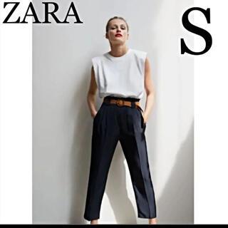 ZARA - ⭐︎ ZARA 新品未使用タグ付き ラフィラベルト付きパンツ S