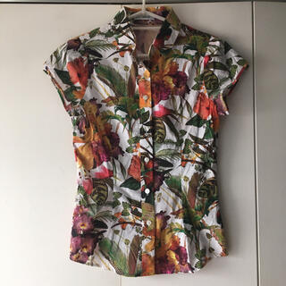 NARACAMICIE - 【美品】NARACAMICIE ナラカミーチェ 花柄ブラウス 半袖シャツ