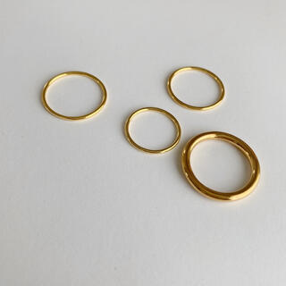 DEUXIEME CLASSE - Silver925,990,18kgp_ Emma ring set