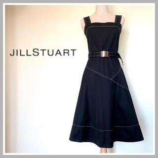 JILLSTUART - 【新品タグ付】ジルスチュアート フレアワンピース ノースリーブ ブラック 黒 S