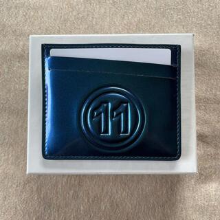 マルタンマルジェラ(Maison Martin Margiela)の新品 メゾン マルジェラ カレンダーロゴ カードケース 財布 エナメル ブルー(折り財布)