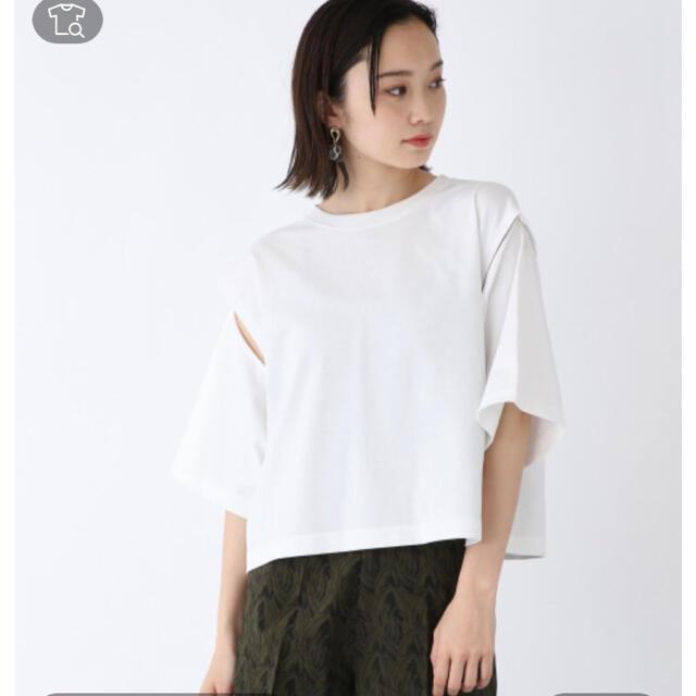 JEANASIS(ジーナシス)のジーナシス アームホールスリットショートTEE レディースのトップス(Tシャツ(半袖/袖なし))の商品写真