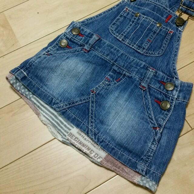 BREEZE(ブリーズ)のBREEZE🌟定番ジャンスカ🌟美品 キッズ/ベビー/マタニティのキッズ服 女の子用(90cm~)(スカート)の商品写真