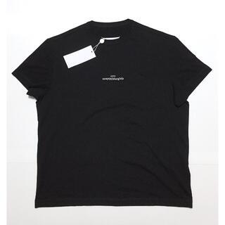 マルタンマルジェラ(Maison Martin Margiela)の48 メゾン マルジェラ 反転 ロゴ Tシャツ ホワイト Margiela 黒(Tシャツ/カットソー(半袖/袖なし))