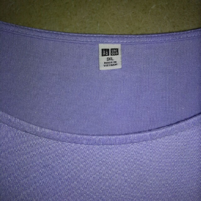 UNIQLO(ユニクロ)の新品 ユニクロ カットソー 3XL  レディースのトップス(カットソー(半袖/袖なし))の商品写真