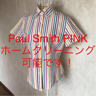 Paul Smith - ★Paul Smith PINK/ポールスミス ピンク★半袖ブラウス40.M