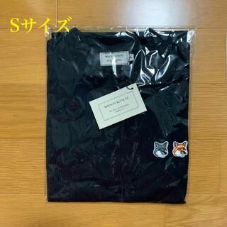 MAISON KITSUNE' - メゾンキツネ ダブルフォックスヘッドパッチ Tシャツ 黒 Sサイズ