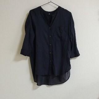 ムジルシリョウヒン(MUJI (無印良品))の無印良品 スタンドカラーシャツ チュニック ネイビー(チュニック)