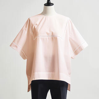 Drawer - 【美品】yori ハシゴレース ワイドブラウス ピンク