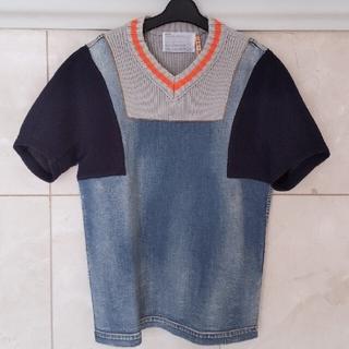 kolor - 希少 15ss  kolor カラー ニット  デニム 半袖カットソー