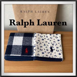 ラルフローレン(Ralph Lauren)の91⭐️ラルフローレン ガーゼタオル ハンカチタオル 2枚(ハンカチ)