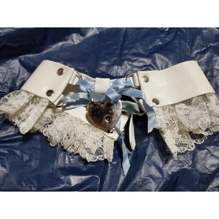 ハートロックチョーカー サックス×ホワイト pharfaite パルフェット(衣装)