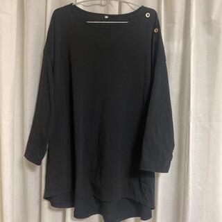 シマムラ(しまむら)のしまむら 肩ボタン 七分袖 デザインカットソー 大きいサイズ(カットソー(長袖/七分))