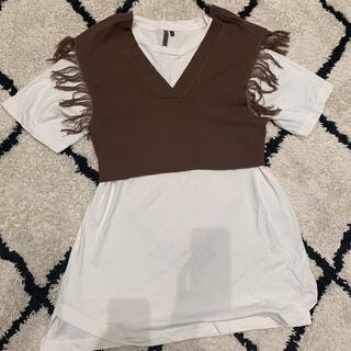シマムラ(しまむら)のしまむら 2wayニット+半袖(Tシャツ(半袖/袖なし))