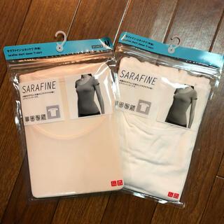 UNIQLO - 新品未使用品 サラファインUネックT 半袖 Mサイズ 2枚セット