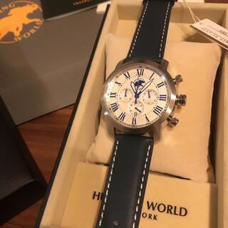 HUNTING WORLD - 【新品】ハンティングワールド メンズ 本革 レザー 腕時計 箱付き プレゼント