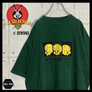 アートヴィンテージ(ART VINTAGE)の【入手困難】1996s ルーニーテューンズ 半袖Tシャツ 刺繍 ビンテージ レア(Tシャツ/カットソー(半袖/袖なし))
