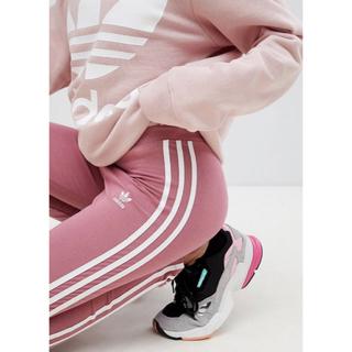 adidas - adidas アディダス♥️ピンク スリーライン レギンス ヨガ ランニング