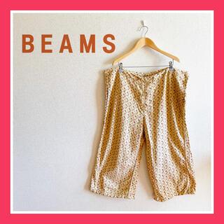 ビームスボーイ(BEAMS BOY)のBEAMS BOY ビームス ボーイ 花柄 総柄 ハーフパンツ XL ベージュ系(ハーフパンツ)