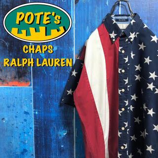 ラルフローレン(Ralph Lauren)の【チャップスラルフローレン】マルチデザイン半袖USA星条旗柄シャツ 90s(シャツ)