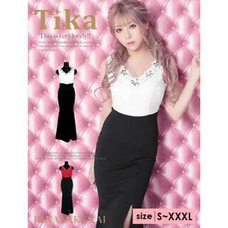 dazzy store - Tika ティカ キャバ嬢ロングドレス ビジュー付き セクシー ナイトドレス