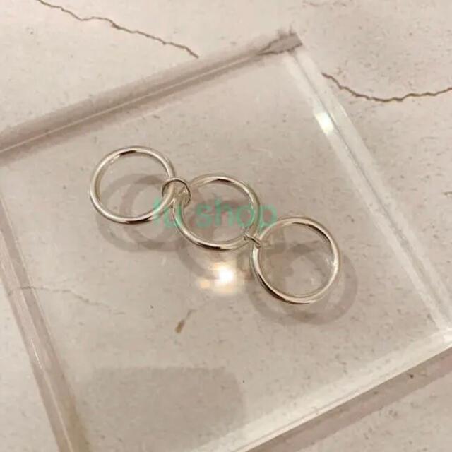 Ron Herman(ロンハーマン)のシルバー925 3連リング メンズのアクセサリー(リング(指輪))の商品写真
