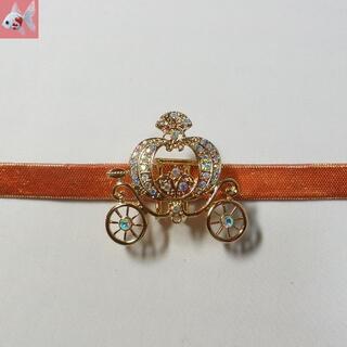 新品◆かぼちゃの馬車の帯留め飾り