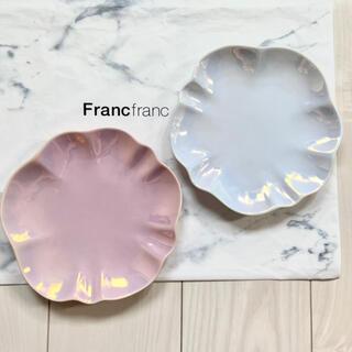 Francfranc - 新品 Francfranc オパール シェルプレート 食器 お皿 華やか 2点