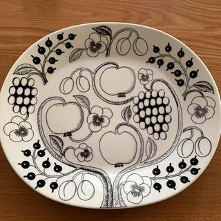 アラビア(ARABIA)のアラビア ヴィンテージ 36cm プラター ブラックパラティッシ 大皿(食器)