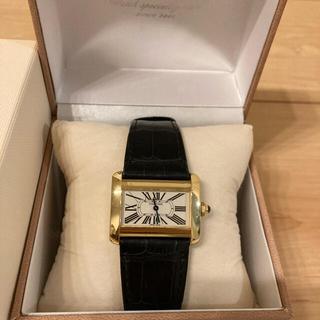 カルティエ(Cartier)のCartier Tank Divan 18KYG 純正ベルト(腕時計)