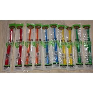 タフト24 ミディアムソフト 歯科専用 歯ブラシ 10本5色アソートセット(歯ブラシ/デンタルフロス)