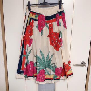アンドクチュール(And Couture)のアンドクチュール レトロ柄ワンピース サイズ38(ひざ丈スカート)