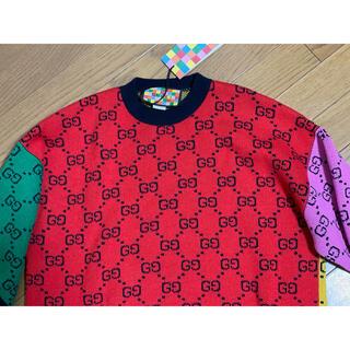 Gucci - 期間限定●GUCCIグッチGGマルチカラー半袖ニットXXXS新品