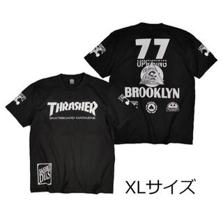 スラッシャー(THRASHER)のスラッシャーTシャツ XL 黒 スケボー ボード アウトドア ロック バイク(Tシャツ/カットソー(半袖/袖なし))