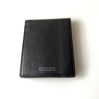 マッキントッシュフィロソフィー(MACKINTOSH PHILOSOPHY)のマッキントッシュ 二つ折り財布 メンズ ブラック バイカラー カード大容量(折り財布)